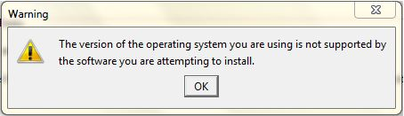 Operating System Does Not Support Setup
