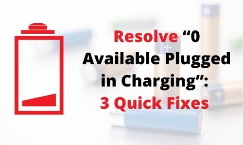 0 Available Plugged in Charging